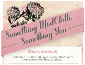 An example of a ModCloth Pinterest campaign.